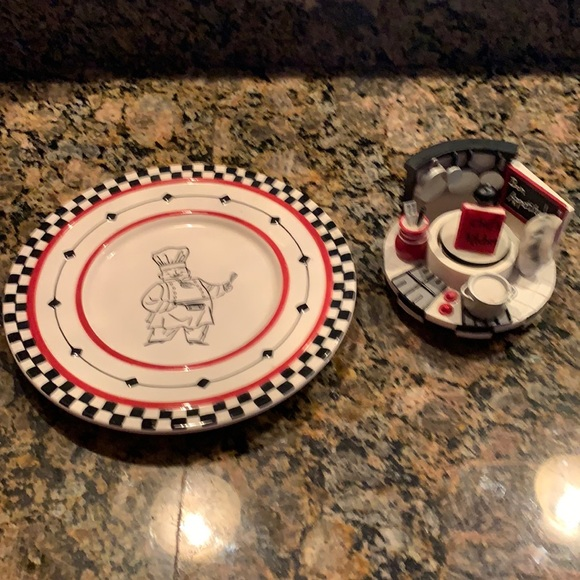 Yankee Candle Topper and Saucer